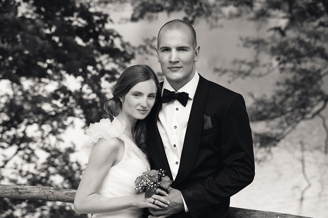 Brautpaar Schwarzweiss